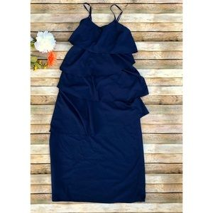 Old Navy dark blue layered spaghetti strap dress